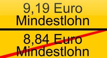 Mindestlohn steigt 2019 auf 9,19 Euro